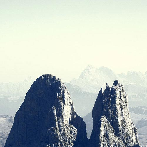 Santner Mountain at Siusi in South Tyrol