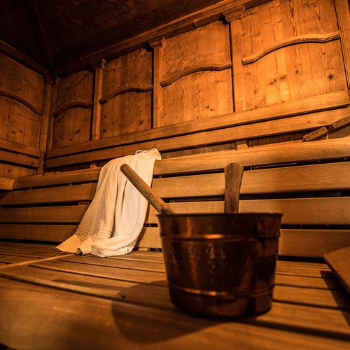 Finnish sauna at the hotel Genziana in Siusi allo Sciliar
